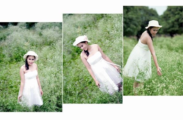 Chụp ảnh cưới đẹp với đồng hoa