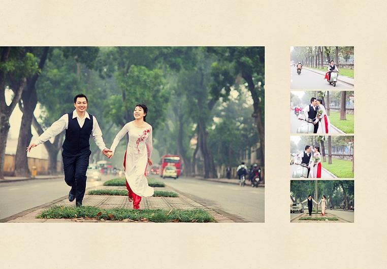 Chụp ảnh cưới đẹp với đường phố